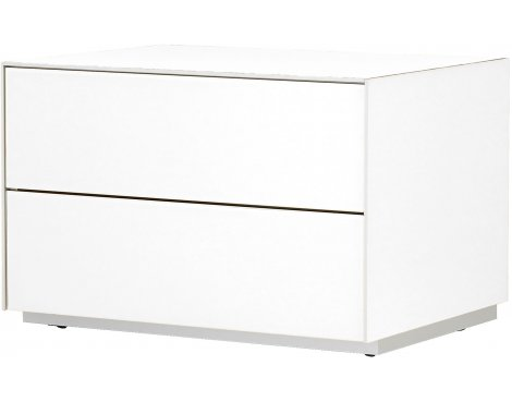 Optimum Project Iso Series Small TV Stand with Double Flip Down Doors - Brilliant White