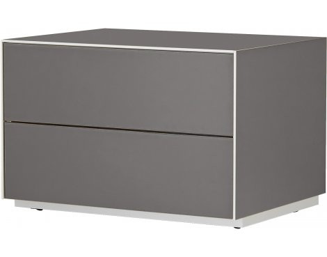 Optimum Project Iso Series Small TV Stand with Double Flip Down Doors - Granite Grey