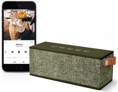 Fresh \'n\' Rebel Rockbox Brick Fabriq Army Green Bluetooth Speaker