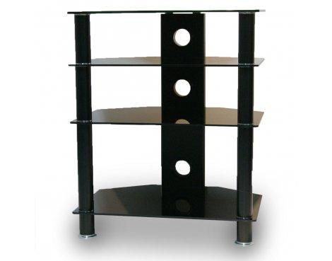 TNW 4 Shelf Black Glass HiFi Stand