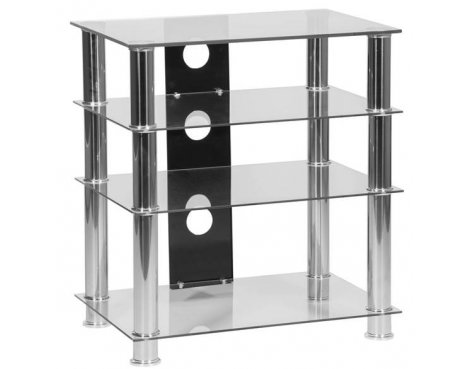 MMT 4 Shelf Clear Glass HiFi Stand