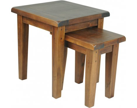 Ultimum Hazel Wooden Nest of Tables - Stained Wood