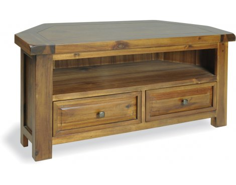 "Ultimum Hazel Wooden TV Unit for up to 47"" TVs - Stained Wood"