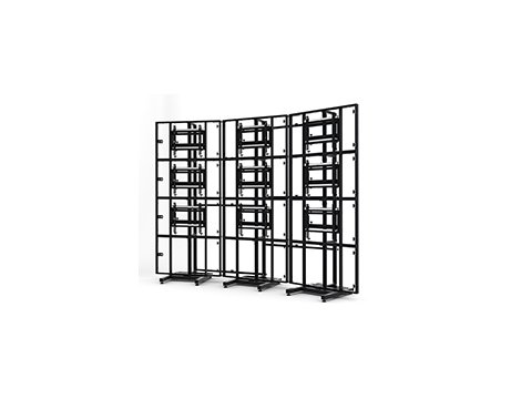 BTech Modular Free Standing Video Wall System - Curved 3x3