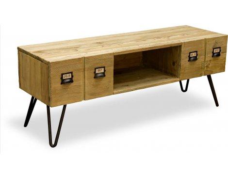 Ultimum Burden Vintage Style 2 Drawer TV Cabinet - Reclaimed Pine
