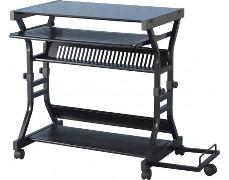 Valufurniture Duke Black Glass Computer Desk