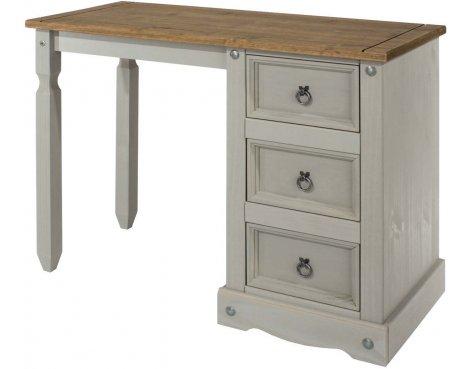 Core Products Corona Grey Single Pedestal Dressing Table