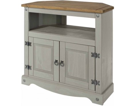 """Core Products Corona Grey Corner TV Unit for up to 40\"""" TVs"""