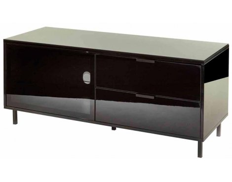 """MMT Stratos Black TV Stand for up to 55\"""" TVs"""