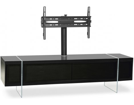 """MDA Designs Space Hybrid Black Cabinet with Bracket for up to 60\"""" TVs"""