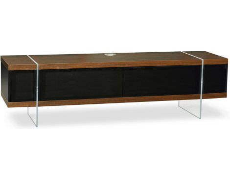 """MDA Designs Space Hybrid Walnut Cabinet for up to 60\"""" TVs"""