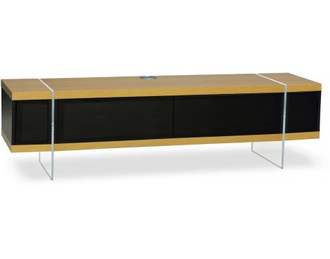 """MDA Designs Space Hybrid Oak Cabinet for up to 60\"""" TVs"""
