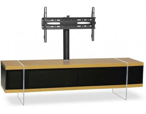 """MDA Designs Space Hybrid Oak Cabinet with Bracket for up to 60\"""" TVs"""