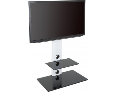 """AVF Lesina Cantilever TV Stand for TVs up to 55\"""" - White"""