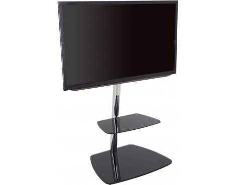 """AVF Iseo Cantilever TV Stand for up to 55\"""" TVs - Black & Silver"""