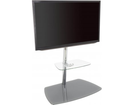 """AVF Iseo Cantilever TV Stand for up to 70\"""" TVs - Clear & Silver"""