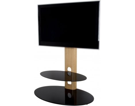 "AVF Sandringham Cantilever TV Stand for up to 60"" TVs - Oak & Black"