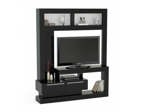 Mason and Bailey Stockholm Black Entertainment Unit For TVs up to 47""