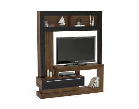 """Mason and Bailey Stockholm Walnut & Black Entertainment Unit For TVs up to 47\"""""""