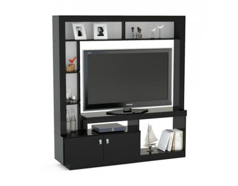 """Mason and Bailey Darwin Black Entertainment Unit For TVs up to 47\"""""""
