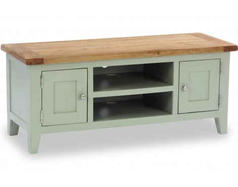 "Besp-Oak Vancouver Expressions 2 Door 1 Shelf TV Stand for up to 50"" TVs - French Grey"