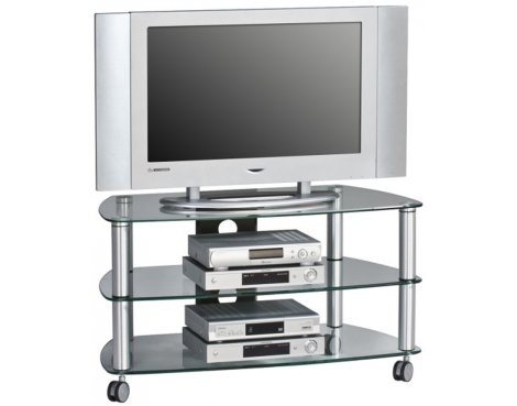 "Maja 1610 Clear Glass TV Stand for up to 47"" TVs"