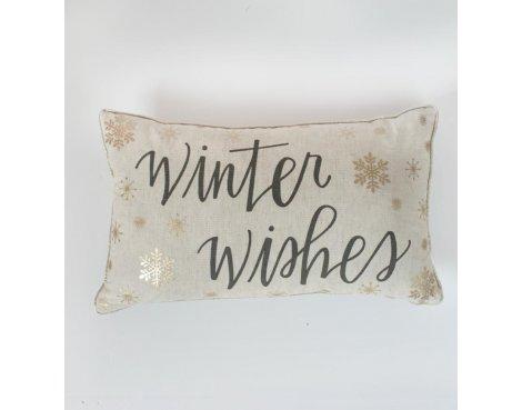 Gallery \'Winter Wishes\' Metallic Printed Cushion