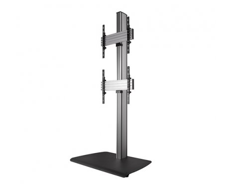B-Tech BTF841/BS Universal Dual Stack Flat Screen Floor Stand - 1.8m