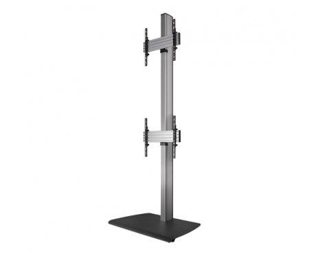 B-Tech BTF842/BS Universal Dual Stack Flat Screen Floor Stand - 2.4m