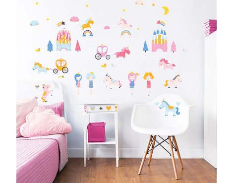 Walltastic Unicorn Kingdom Wall Stickers