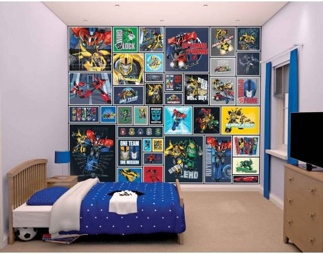 Walltastic Transformers Robots in Disguise 12 Piece Mural