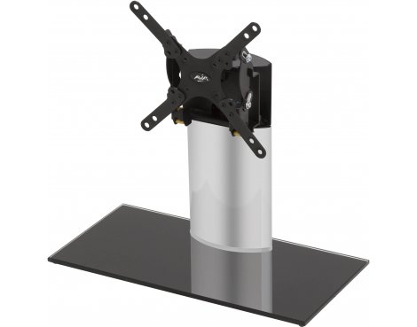AVF Adjustable Tilt and Turn Table Top Stand For Upto 32 TVs - Black & Silver