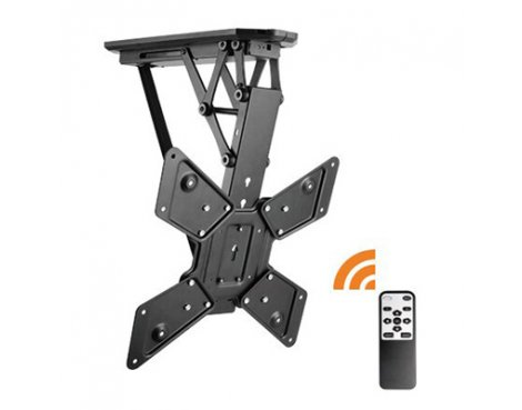 Lithe Audio Remote Control Motorised Flip Down TV Ceiling Mount - For Up To 55""