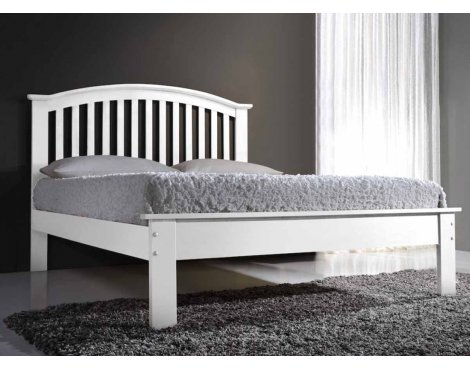 Ultimum Leeswood 4ft6 Double White Bed