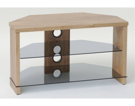 "TNW Montreal Oak Corner TV Stand for up to 40"" TVs"