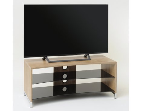 "TNW Paris Curved Oak TV Stand for up to 50"" TVs"