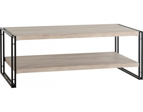 TNW Burton Coffee Table in Oak Effect Veneer/Black