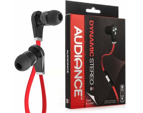 Audiance B1 Black and Red Ear Buds