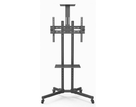 MMT D910 Twin Pole Trolley Stand with Shelf - 1.5m