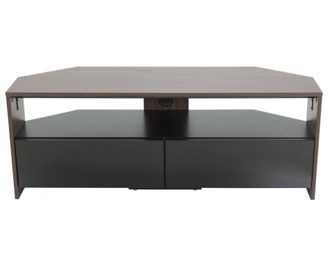 "AVF Reflections Saunton Corner TV Stand For Up To 60"" - Walnut/Black"
