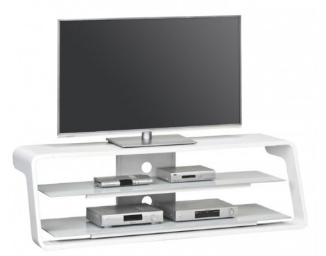 Maja 7720 5605 High Gloss White TV Stand for Screens up to 65""