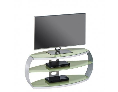 "Maja Pastel Green Glass TV Stand for up to 47"" TVs"
