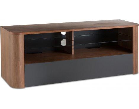 "Alphason Hugo 1260 TV Stand for TVs up to 60\"" - Walnut & Graphite"