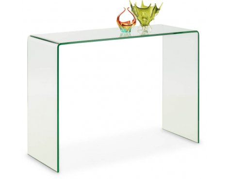 Mason and Bailey Palermo Bent Glass Console Table