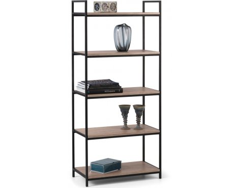 Mason and Bailey Hamilton Oak Effect Tall 5 Shelf Bookcase