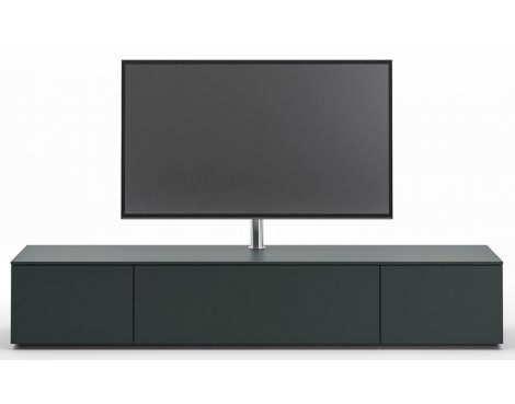 Spectral NEXT NXE2000 Black TV Cabinet with NX9000 Swivel TV Mount