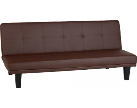 ValuFurniture Vanya Sofa Bed in Brown Faux Leather