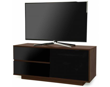 "MDA Gallus Ultra Walnut and Black TV Cabinet for up to 55"" TVs"