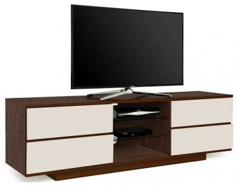 "MDA Avitus Walnut and Ivory TV Cabinet For Up To 65"" TVs"