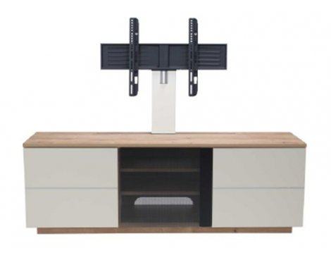 """UKCF New London Oak/Cream TV Stand with Bracket For up to 65\"""" TVs"""